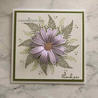 Daisy Lane Thank You Card Featuring Stampin' Up! - Jodie's Ink Spot