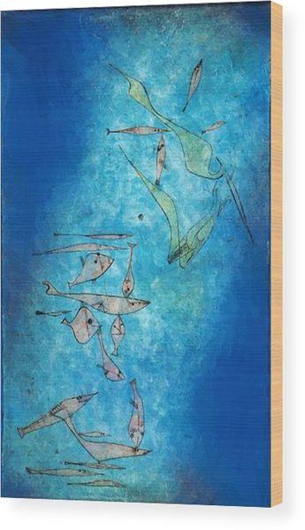 Fish Image 1925 Wood Print by Klee Paul