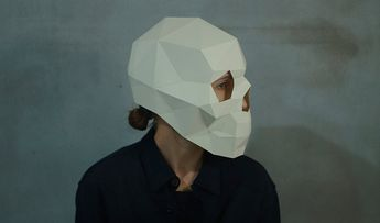 Make Skull Mask3D MaskFacePDFPattern MasksPolygon DIY