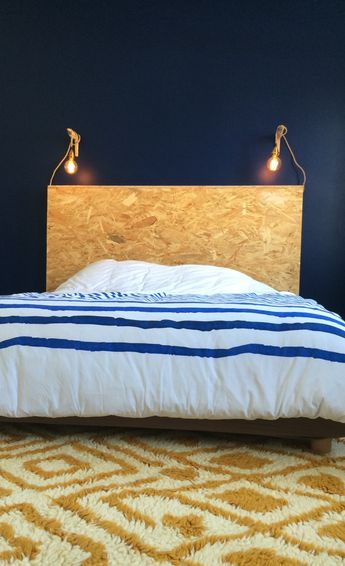 Tête de lit en OSB sur mesure