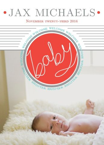 Baby Button Birth Announcements