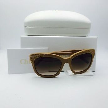 2639371971 Chloe Chole CE626S 290 Nude Cat Eye Gradient Sunglasses Brown 55mm Lenses   Chloe  Fashion