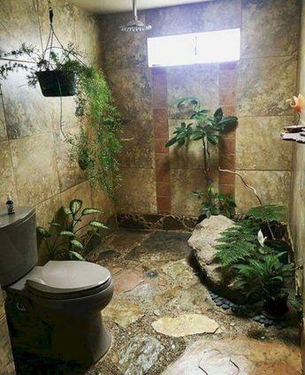 33+ Lovely Bohemian Style Bathroom Decorating Ideas