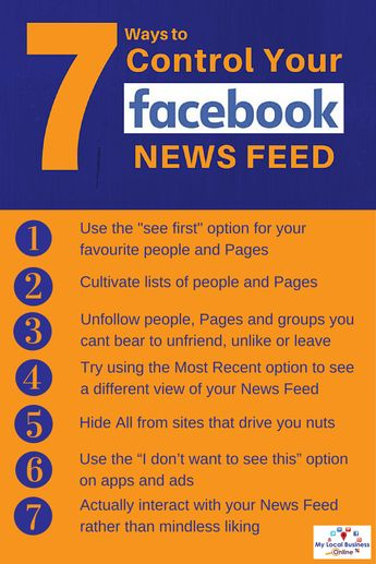 Facebook News Feed: 7 Ways To Control What You See | My Local Business Online