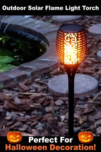 🔥This beautifully designed solar torch light produces a jaw-dropping lighting effect which looks and moves exactly like a real flame.🔥 No wiring required, simply install it anywhere you like and enjoy the warm torch light.✨✨