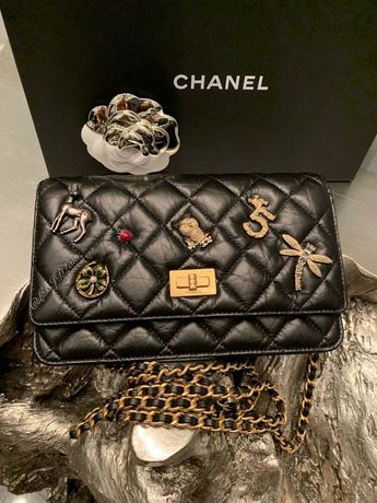 NWT CHANEL 17P Lucky Charms WOC WALLETonCHAIN CLUTCH Mini BAG 2017  MADEMOISELLE 5b420c420f276