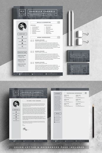 D Connell Modern Resume Template #69559