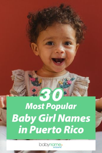 The 30 most popular baby girl names in Puerto Rico