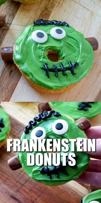 Fun, easy frankenstein donuts