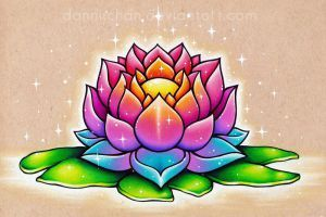 Colorful Lotus by danniichan