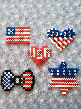 Patriotic Perler Bead Decorations