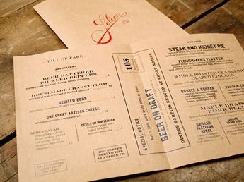 cafe restaurant menu design food drink inspiration roundup