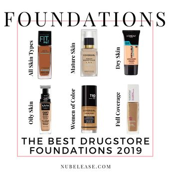 The Best Drugstore Foundations 2019