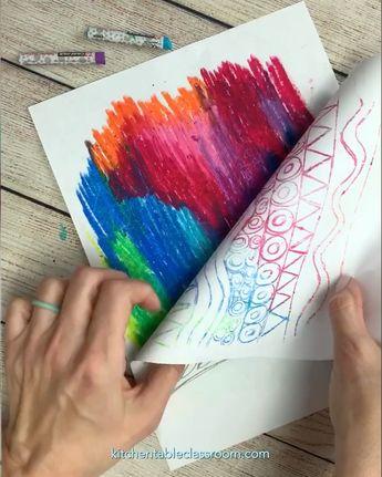 Oil Pastel Drawing in Reverse