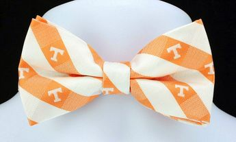 University of Tennessee Plaid Mens Bow Tie Adjustable College Gift Bowtie New