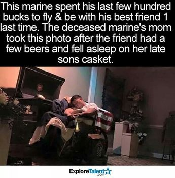 Once a Marine, always a Marine. He has his friend's six till the end.