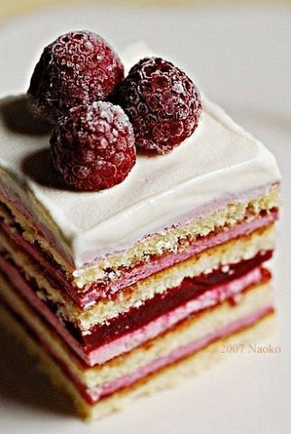 Try this light, creamy raspberry cake for a sweet summer treat.