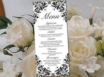 Items similar to Lace Wedding Program Template - Tea Lengt
