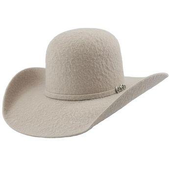 6d9c18bea3 Cuernos Chuecos 10x Grizzly Silver Belly Open Crown Cowboy Felt Hat