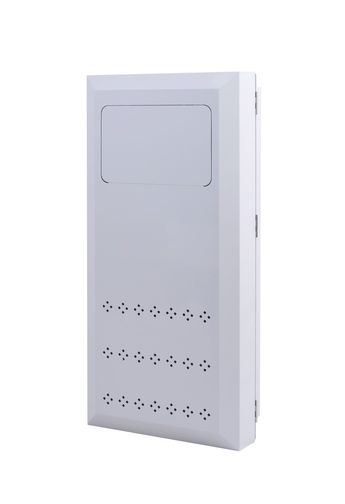 Krupp Built-In Wall Laundry Clothes Hamper Receptacle - White