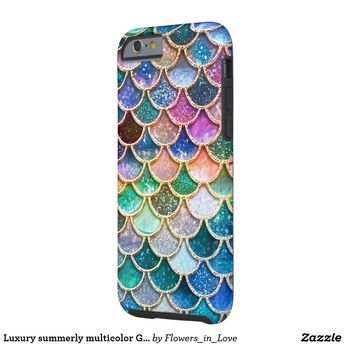 71274e8396f46 Luxury summerly multicolor Glitter Mermaid Scales Case-Mate iPhone Case