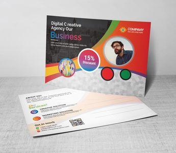 Excellent Postcard Design Template - Graphic Templates