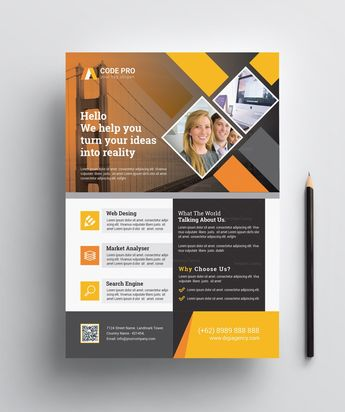 Print Ready Corporate Flyer Design - Graphic Templates