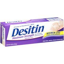 Desitin Maximum Strength Diaper Rash Cream with Zinc Oxide, 4.8 oz