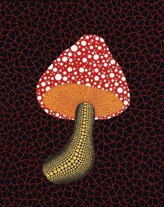 Yayoi Kusama, Mushroom, 2002; oil on canvas, 91×72.7cm