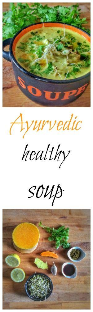Soupe ayurvédique pleine d'énergie à la courge et aux épices