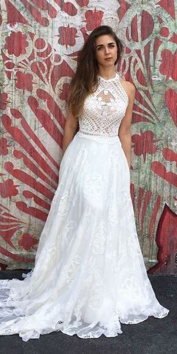 61 Most Beautiful Lace Wedding Dresses To See