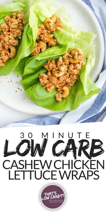 Cashew Chicken Lettuce Wraps for dinner tonight! A easy and delicious recipe that quickly whips together in under 30 minutes. #lowcarb #keto #lowcarbdinner #lowcarbrecipe #lowcarbrecipes #ketorecipes #recipe #recipes #ketodiet #chicken #chickenrecipes #chickendinner  via @thatslowcarb