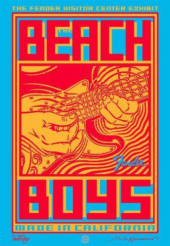 "John Van Hamersveld's latest poster for the upcoming exhibit ""Beach Boys – Made in California"" at the new Fender Visitor Center.  Corona, Calif, 2013."