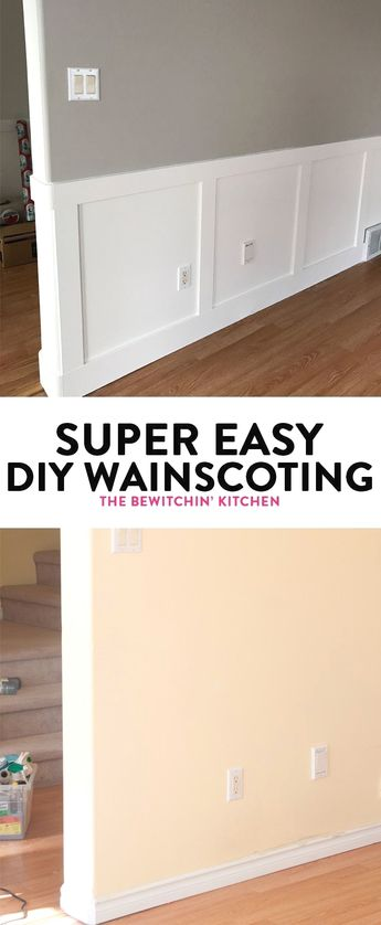 Super Easy DIY Wainscoting