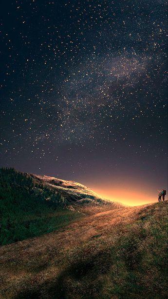 Starry sky Phone wallpaper