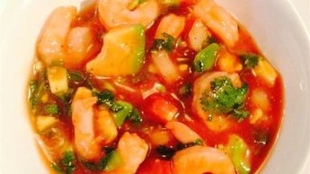 A refreshing and authentic Mexican shrimp cocktail with plenty of spicy flavors makes a perfect starter or a light meal. Serve it chilled with saltine crackers on the side. The trick is to start with well-chilled shrimp, ketchup, and clam-tomato juice so it can be ready after only chilling 1 hour in the fridge.