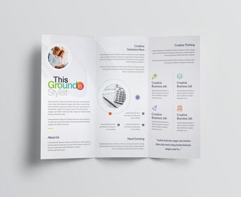 Rainbow Professional Corporate Tri-Fold Brochure Template - Graphic Templates