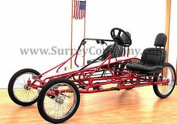 Details about 4 Wheel Bike Plans DIY Pedal Car Quad Cycle R