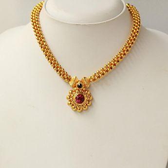 Saaz Necklace , indian jewellery, maharashtrian jewellery, ethnic, marathi jewelery