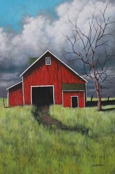 Easy Acrylic Painting On Canvas | bright_barn__size__24_x_36_medium__acrylic_on_canvas_1 ...
