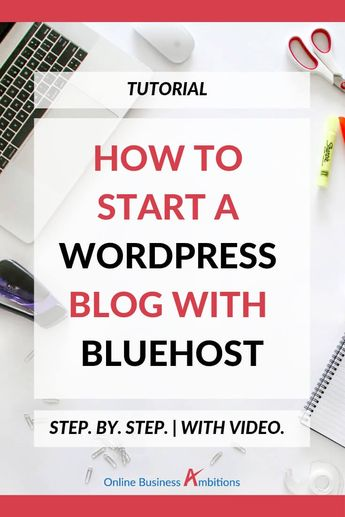 Starting a blog can feel a bit overwhelming. But, like many things in life, the biggest hurdle is just getting started. This step-by-step walkthrough (WITH VIDEO) teaches how you to how to start a blog in just a few minutes. Get your blog up and running today!  #wordpress #wordpressblog #blogging #blogger #bloggingtips