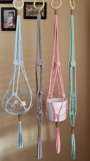 Macrame Plant Hanger | Hanging Planter | Home Decor | Josephine Knot Plant Hanger | Plant Hanger | Macrame Decor | Nautical Decor