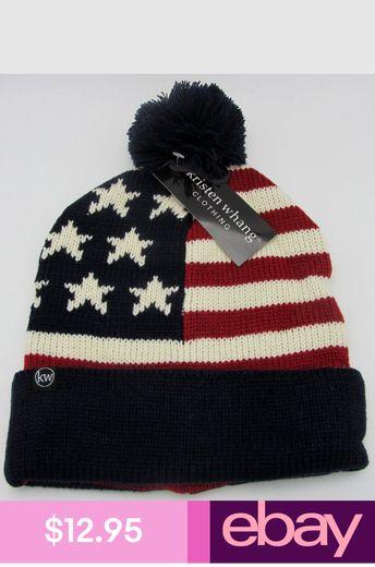 5528b756ad3d48 ... 50% off usa flag cuffed pom knit beanie stars stripes old glory cuff  skull cap