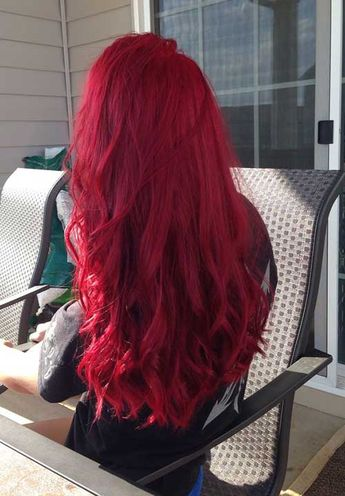 20+ Red Long Hairstyles