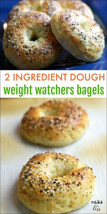 2 Ingredient Dough bagels are so easy to make and just 3 points on the Weight Watchers Freestyle program. #weightwatchers #2ingredientdough #freestyle