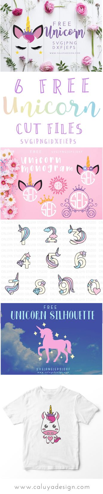 FREE 6 Unicorn SVG, PNG, DXF & EPS by