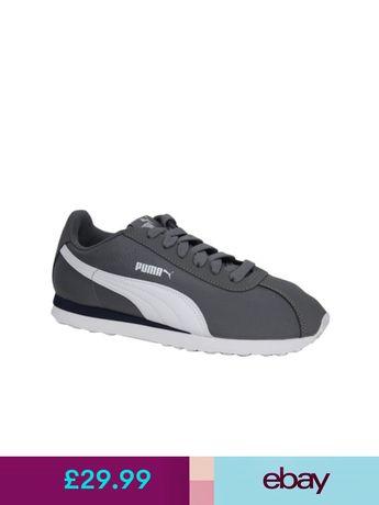 39f4e434b0f3 Puma Turin Trainers Mens Lace Up Shoes Grey and White 362167 01 U3