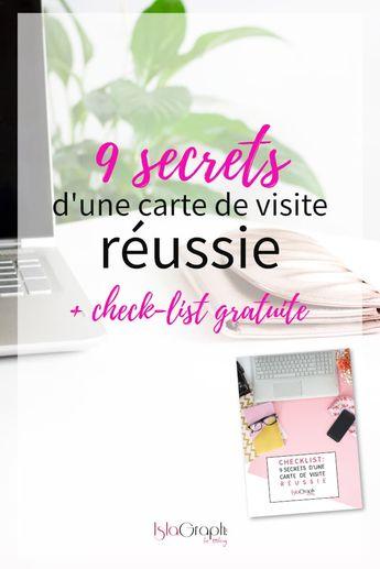9 secrets d'une carte de visite réussie