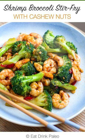 Prawn & Broccoli Stir-Fry With Cashews