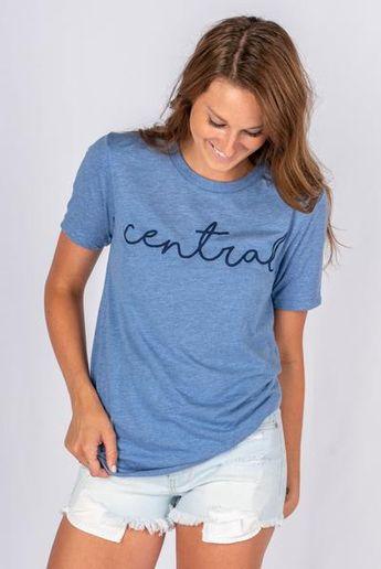 3a1992be3a6 Lush Fashion Lounge  lushfashionokc. 32w 0. UCO Central pride script unisex  short sleeve t-shirt blue